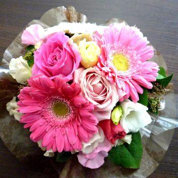 お祝い花束 ガーベラピンク