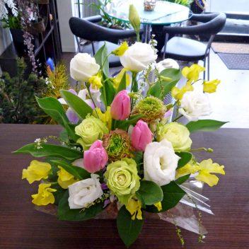 お祝い花束 ピンクチューリップ